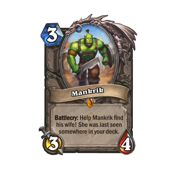 Find Mankrik's Wife In Hearthstone's Forged In The Barrens Expansion 1