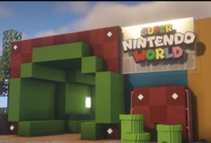Most of us won't be able to visit Super Nintendo World, so someone's making it in Minecraft 6